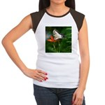 .swallowtail on candy lily. Women's Cap Sleeve T-S