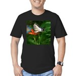 .swallowtail on candy lily. Men's Fitted T-Shirt (