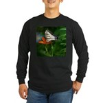 .swallowtail on candy lily. Long Sleeve Dark T-Shi