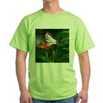 .swallowtail on candy lily. Green T-Shirt