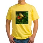 .swallowtail on candy lily. Yellow T-Shirt