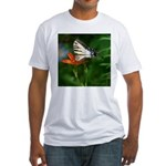.swallowtail on candy lily. Fitted T-Shirt