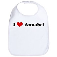 I Love Annabel Bib