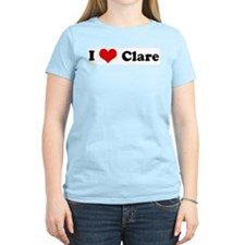 I Love Clare Women's Pink T-Shirt