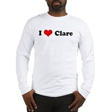 I Love Clare Long Sleeve T-Shirt