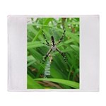 .garden spider. Throw Blanket