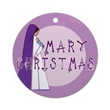 New! Mary Christmas Ornament (Round)