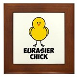 Eurasier Chick Framed Tile