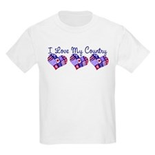 I Love My Country Kids T-Shirt