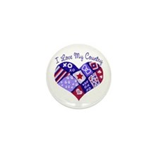 I Love My Country Mini Button