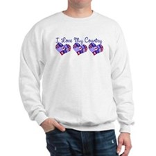 I Love My Country Sweatshirt