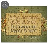 Wise Man Quote on Jigsaw Puzzle
