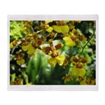 .yellow oncidium. Throw Blanket