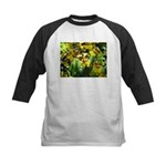 .yellow oncidium. Kids Baseball Jersey