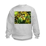 .yellow oncidium. Kids Sweatshirt