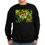 .yellow oncidium. Sweatshirt (dark)