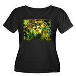 .yellow oncidium. Women's Plus Size Scoop Neck Dar