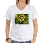 .yellow oncidium. Women's V-Neck T-Shirt