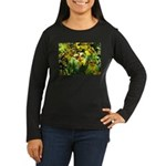 .yellow oncidium. Women's Long Sleeve Dark T-Shirt