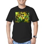 .yellow oncidium. Men's Fitted T-Shirt (dark)