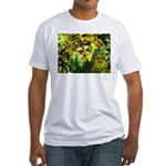 .yellow oncidium. Fitted T-Shirt