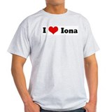 I Love Iona Ash Grey T-Shirt