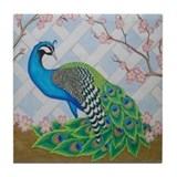 Peacock Tile Coaster