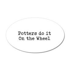 Pottery 22x14 Oval Wall Peel