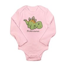 Picklesaurus Long Sleeve Infant Bodysuit