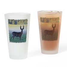7 point buck Drinking Glass