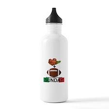 Gravy & Football = Sunday! Water Bottle