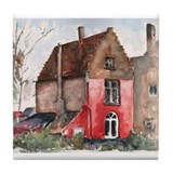 Belgian Historic House Tile Coaster