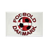 Danmark Denmark Football Fodb Rectangle Magnet