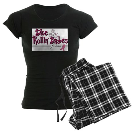 Dice Rollin' Babes for a Cure Women's Dark Pajamas