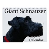 Giant Schnauzer Wall Calendar