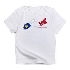 Acadian Flag Nova Scotia Infant T-Shirt