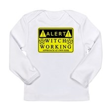 Caution Witch at Work Long Sleeve Infant T-Shirt