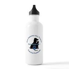 God Loves Animals Water Bottle