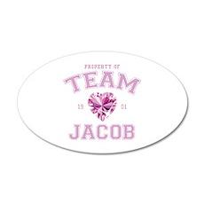 Team Jacob 38.5 x 24.5 Oval Wall Peel