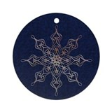Harvest Moon's Lacy Snowflakes Ornament (Round)