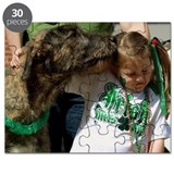 Irish Wolfhound Kiss Puzzle