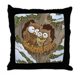 Cozy Owls Throw Pillow