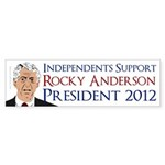 Independents for Rocky Anderson bumper sticker