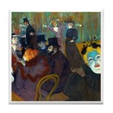 Toulouse-Lautrec Moulin Tile Coaster