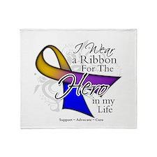 Bladder Cancer Hero Throw Blanket