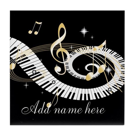 Personalized Piano Musical gi Tile Coaster