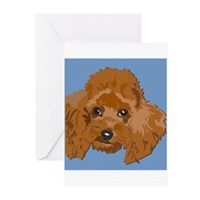 red poodle Greeting Cards (Pk of 20)
