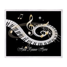 Personalized Piano Musical gi Throw Blanket
