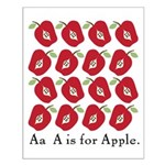 A is for apple Small Poster