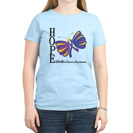 Butterfly Hope Bladder Cancer Women's Light T-Shir